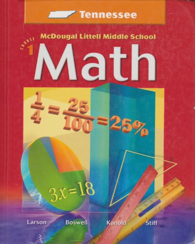 9780618557417: McDougal Littell Middle School Math Tennessee: Student Edition Course 1 2005