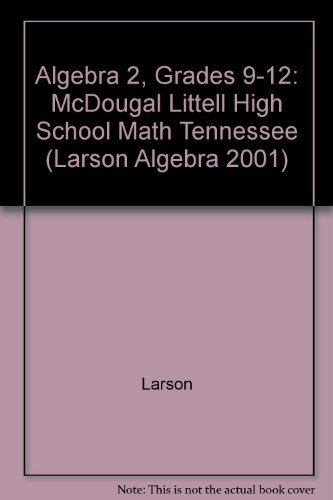 9780618558834: Tennessee Edition (McDougal Littell Algebra 2)