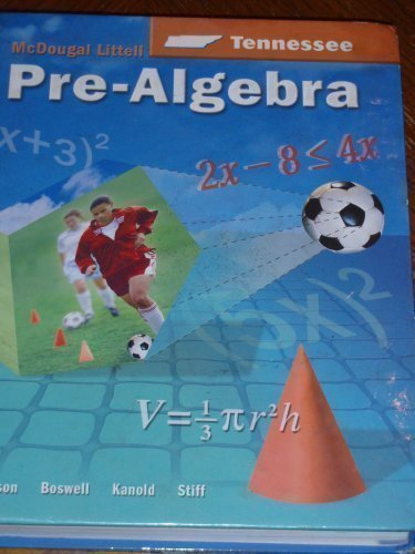 McDougal Littell Middle School Math Tennessee: Student Edition Pre-Algebra 2005: LITTEL, MCDOUGAL