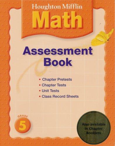 9780618559206: Houghton Mifflin Math, Grade 5, Assessment Book
