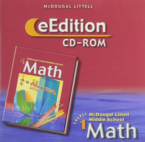 9780618561933: McDougal Littell Middle School Math, Course 1: eEdition CD-ROM © 2005 2005