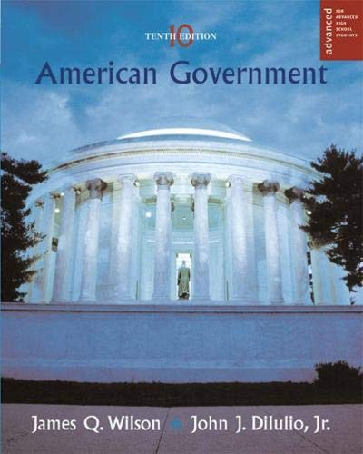 9780618562442: American Government: Institutions and Policies (Advanced Placement Edition)