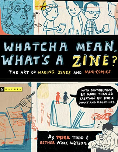 Whatcha Mean, What's a Zine? 9780618563159 A zine is a handmade magazine or mini-comic about anything you can imagine: favorite bands, personal stories, subcultures, or collections. They contain diary entries, rants, interviews, and stories. They can be by one person or many, found in stores, traded at comic conventions, exchanged with friends, or given away for free. Zines are not a new idea: they've been around for years under various names (chapbooks, flyers, pamphlets). People with independent ideas have been getting their word out since before there were printing presses. This book is for anyone who wants to create their own zine. It's for learning tips and tricks from contributors who have been at the fore front of the zine movement. It's for getting inspired to put thoughts and ideas down on paper. It's for learning how to design and print your own zine so you can put it in others' hands. Whatcha Mean, What's a Zine? is for anyone who has something to say.