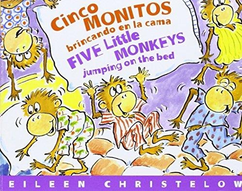 9780618564422: Cinco Monitos Brincando en la Cama/Five Little Monkeys Jumping on the Bed (Five Little Monkeys Picture Books) (Spanish and English Edition)