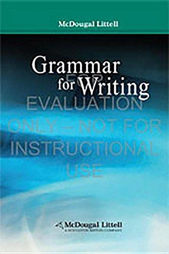 9780618566181: Grammar for Writing (McDougal Littell Literature)