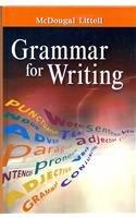 9780618566198: Grammar for Writing: Grammar - Usage - Mechanics