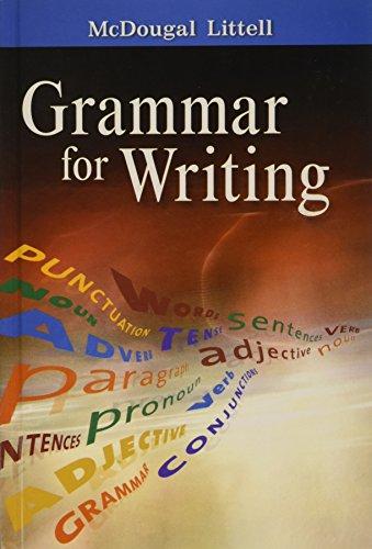 9780618566204: McDougal Littell Literature: Grammar for Writing Grade 10