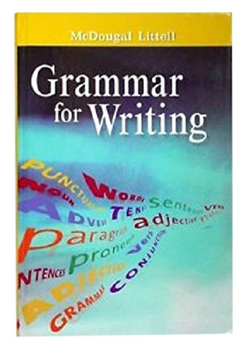 9780618566235: McDougal Littell Literature: Grammar for Writing Answer Key Grade 06