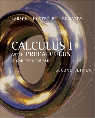 9780618568062: Calculus I with Precalculus: A One-Year Course
