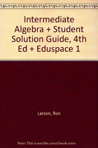Larson, Intermediate Algebra With Student Solution Guide,: Ron Larson