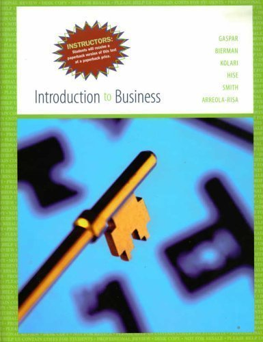 Introduction to Business Instructor's Edition: Leonard Bierman, James