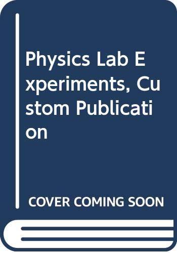 9780618568567: Physics Lab Experiments, Custom Publication