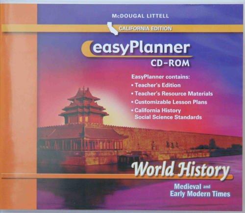 9780618570072: McDougal Littell World History California: Easy Planner CD-Rom Grade 07 CA Medieval and Early Modern Times