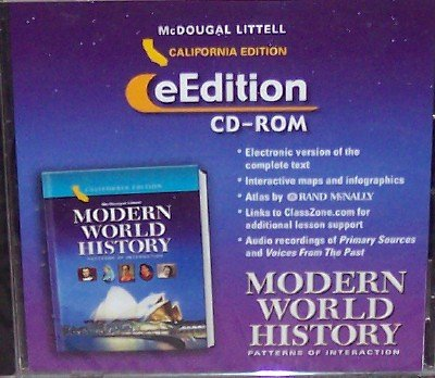 9780618570096: McDougal Littell World History: Patterns of Interaction California: eEdition CD-Rom Grades 9-12 Modern World History 2006