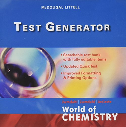 World of Chemistry Update Test Generator with Generic User Guide