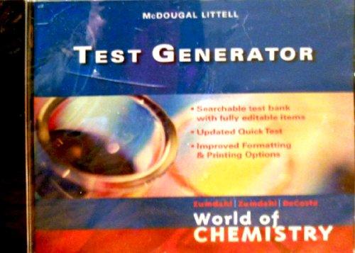 9780618570775: World of Chemistry: Test Generator (CD)