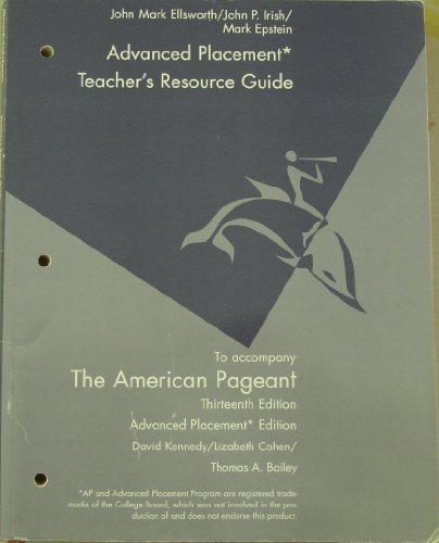 Teacher's Resource Guide to Accompany (The American Pageant For the Advanced Placement Program...