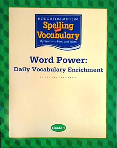 9780618576159: Houghton Mifflin Spelling and Vocabulary: Word Power: Daily Vocabulary Enrichment Book Grade 1