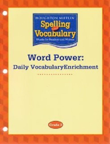 9780618576166: Houghton Mifflin Spelling and Vocabulary: Word Power: Daily Vocabulary Enrichment Book Grade 2