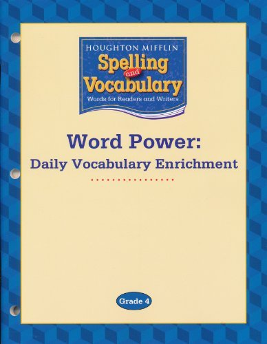 9780618576180: Houghton Mifflin Spelling and Vocabulary: Word Power- Daily Vocabulary Enrichment, Grade 4