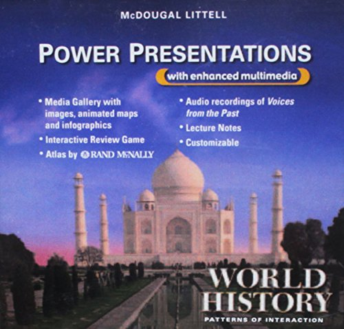 9780618576432: World History: Patterns of Interaction: Power Presentations CD-ROM