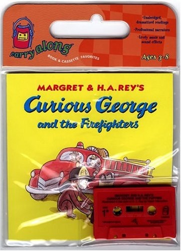 9780618583409: Curious George and the Firefighters Book & Cassette