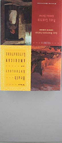 9780618588923: Anthology of American Literature: A & B