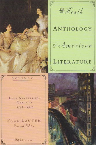 9780618588947: Heath Anthology Of American Literature (5th Ed, Vols C,D & E)