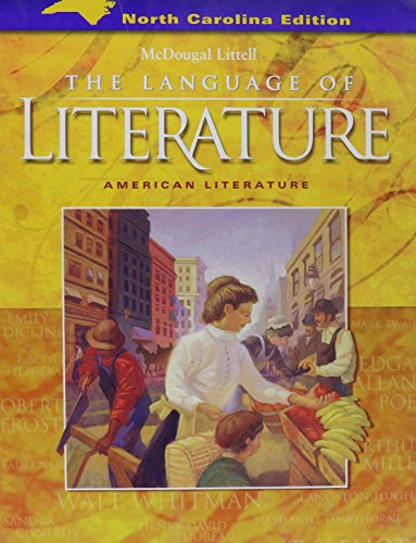 9780618589258: The Language of Literature (North Carolina Student Edition) (The Language of Literature, American Literature)