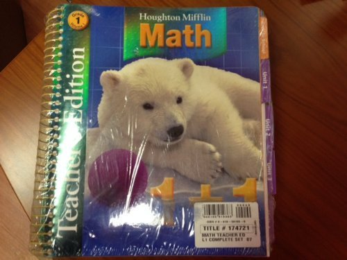 9780618591039: Houghton Mifflin Math: Teacher Edition Complete Set Grade 1 2007