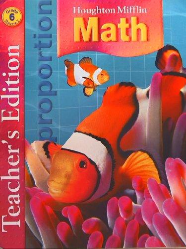 9780618591213: Houghton Mifflin Math: Teacher Edition, Grade 6, Vol. 2