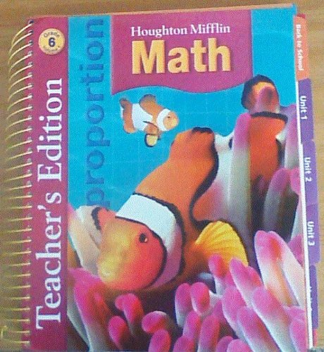 9780618591220: Houghton Mifflin Math: Teacher Edition, Level 6, Vol 1