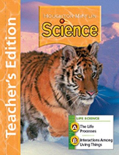 9780618592135: Houghton Mifflin Science: Teacher's Edition Unit Book Level 5 Life 2007