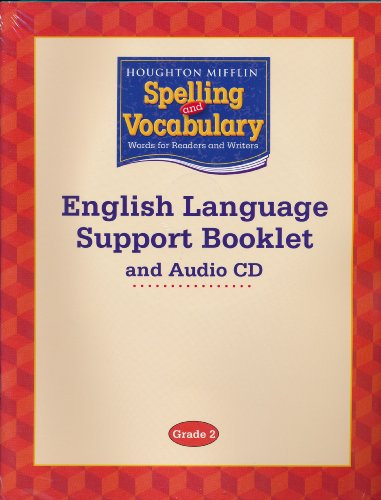 9780618592340: Houghton Mifflin Spelling and Vocabulary: English Language Support Booklet and Audio CD Grade 2