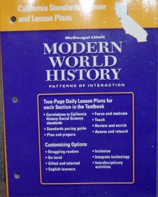 9780618593033: California Standards Planner and Lesson Plans: McDougal Littell Modern World History: Patterns of Interaction: Two-Page Daily Lesson Plans for Each Section in the Textbook