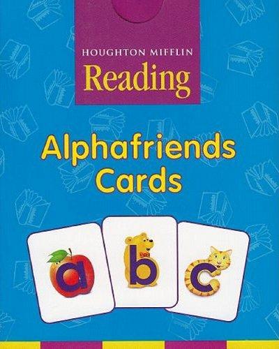 9780618593545: Houghton Mifflin Pre-K: Alphafriends Cards Grade Pre K