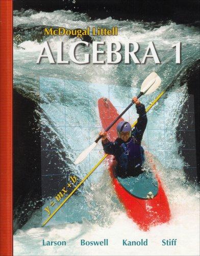 9780618594023: McDougal Littell Algebra 1 (McDougal Littell Mathematics)