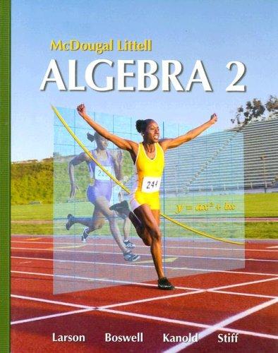 9780618595419: Algebra 2, Grades 9-12: Mcdougal Littell High School Math