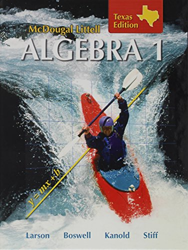 9780618595532: Holt McDougal Larson Algebra 1 Texas: Students Edition Algebra 1 2007