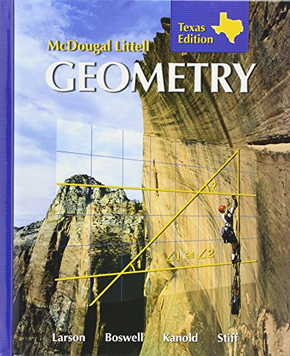 9780618595549: McDougall Littell Geometry Texas Edition (Hardcover)
