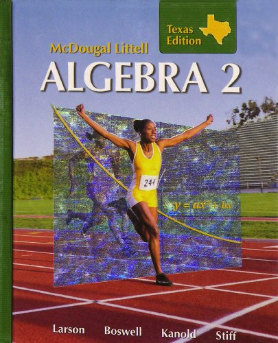 9780618595556: Holt McDougal Larson Algebra 2: Students Edition Algebra 2 2007