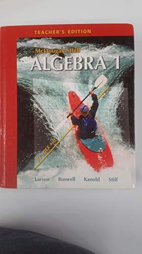 9780618595563: McDougal Littell Algebra 1, Teacher's Edition