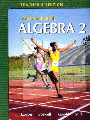 9780618595594: McDougal-Littell Algebra 2 Teacher's Edition