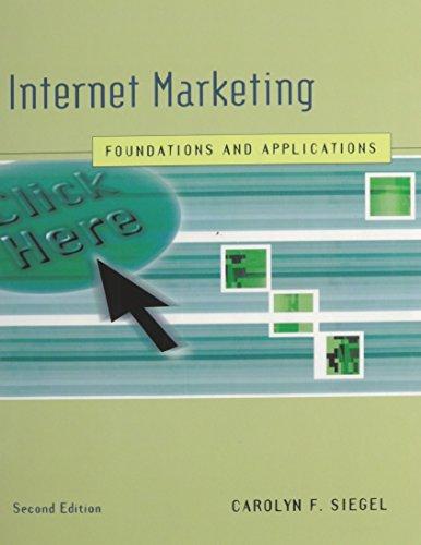 Internet Marketing: Carolyn Siegel