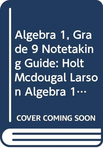 9780618600373: Holt McDougal Larson Algebra 1 Virginia: Notetaking Guide Algebra 1