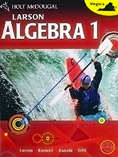 9780618601196: McDougal Littell High School Math Virginia: SOL Test Preparation and Practice (Student) Algebra 1