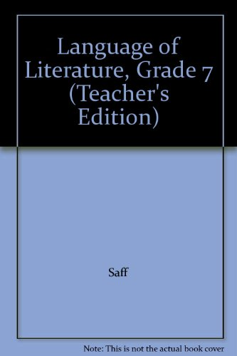 9780618601431: McDougal Littell Language of Literature: Teacher's Edition Grade 7 2006