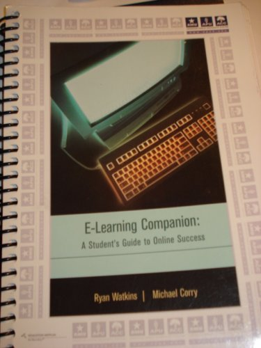 9780618602278: E-Learning Companion: A Student's Guide to Online Success