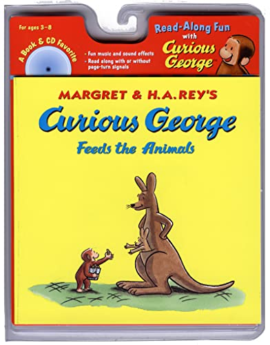 9780618603879: Curious George Feeds the Animals Book & CD (Read Along Book & CD)