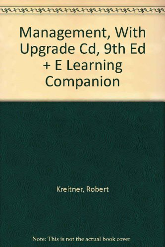 9780618604890: Kreitner, Management, With Upgrade Cd, 9th Edition Plus Watkins, E Learning Companion